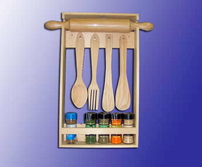 Accesorios madera los mejores for Porta utensilios cocina